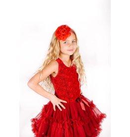 Popatu Red Rosette Sequin Petty Dress