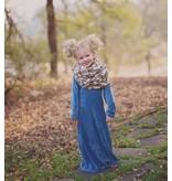 Baileys Blossoms Velour Maxi Dress - Teal