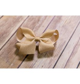Wee Ones Cream Glitter Bow