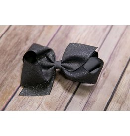 Wee Ones Grey Glitter Bow
