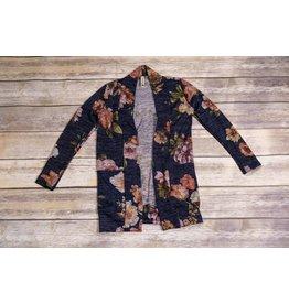 Navy Floral Cardigan