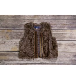 Truly Me Sleeveless Faux Fur Vest