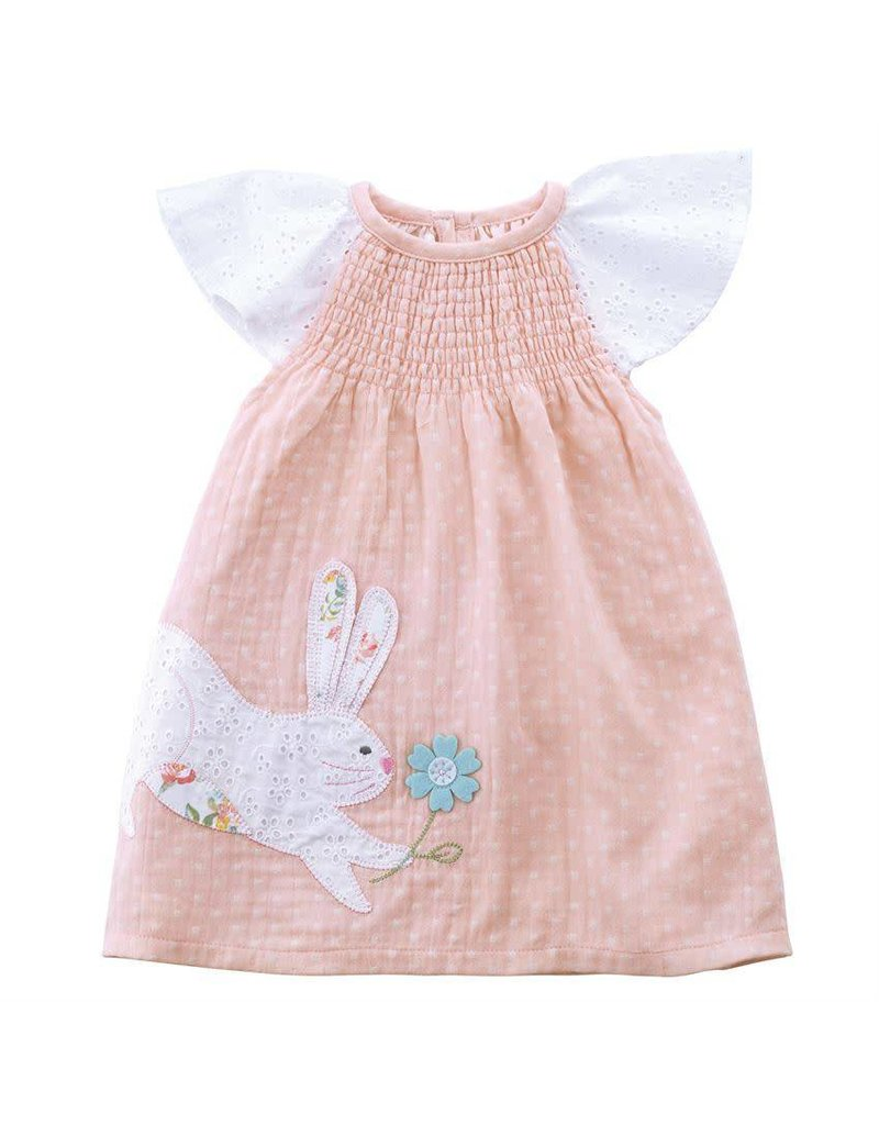 Mud Pie Smocked Bunny Dress - Peek-a-Bootique