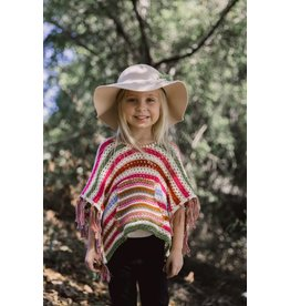 Mimi & Maggie Striped Crochet Poncho