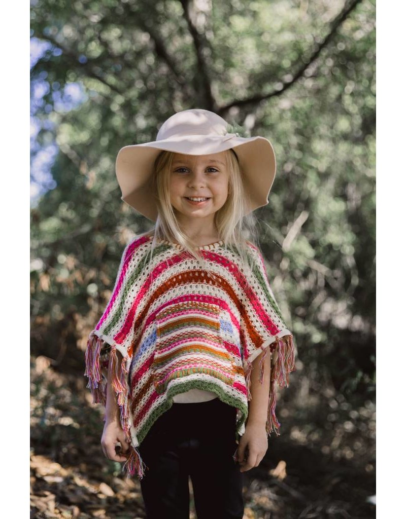 Mimi & Maggie Striped Crochet Poncho - Peek-a-Bootique