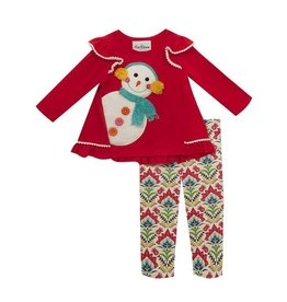 Rare Editions Snowman Tunic Set