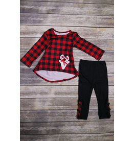 Buffalo Plaid Reindeer Set