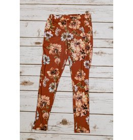 Pomelo Floral Rust Leggings