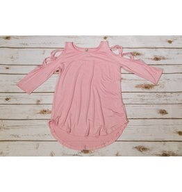 Pomelo Light Pink Caged Sleeve Top