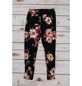 Pomelo Black Floral Leggings