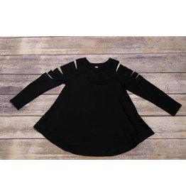 Black Style Cut Cold Shoulder