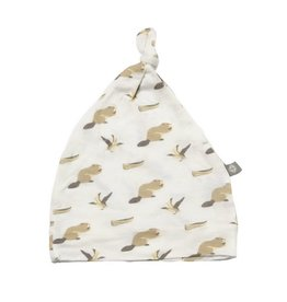 KYTE Beaver Printed Bamboo Knotted Cap