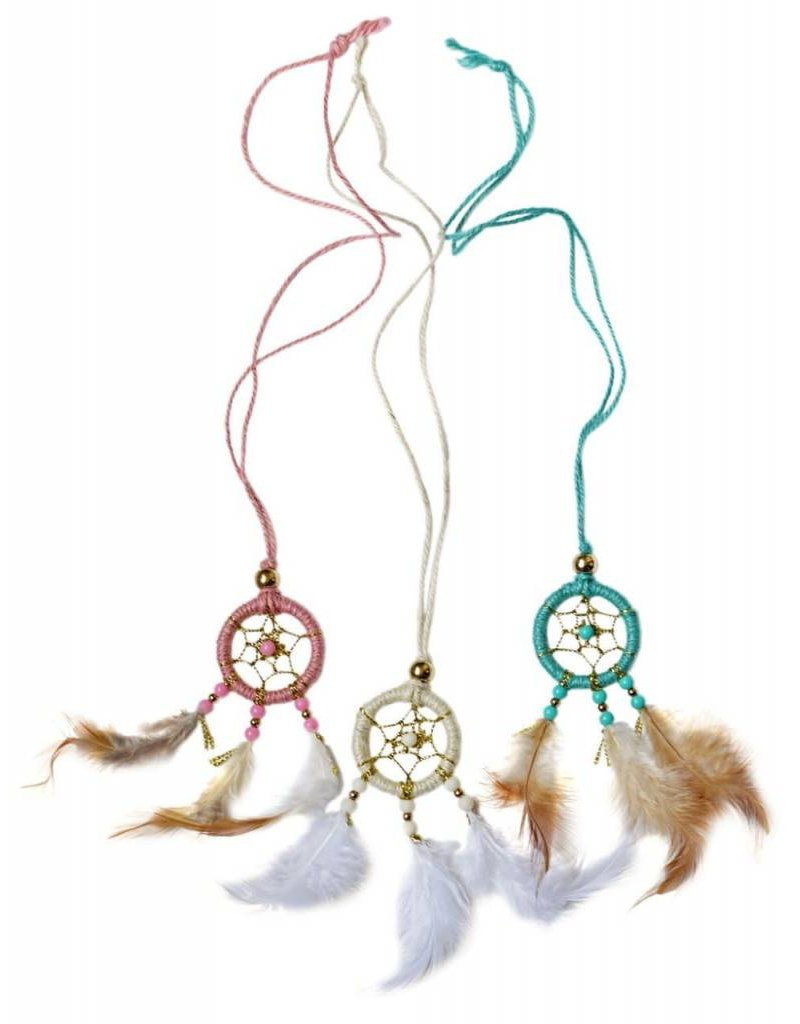 Baileys Blossoms Dream Catcher Necklace - Pink