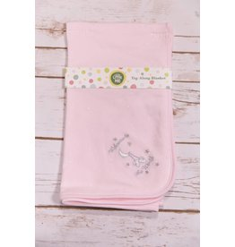 Little Me Welcome To The World Pink Tag-Along Blanket
