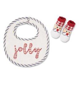 Mud Pie Jolly Bib and Sock Set