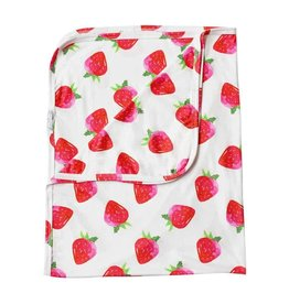 Baileys Blossoms Strawberry Swaddle Blanket