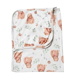 Baileys Blossoms Beary Swaddle Blanket