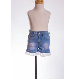 MLKids Lace Trimmed Jean Shorts
