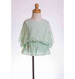 MLKids Mint Lace Winged Tunic