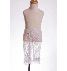 MLKids White Lace Ruffle Legging