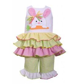 Bonnie Jean Seersucker Bunny Rabbit Tunic Set