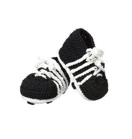 Jefferies Socks Black Crocheted Cleats