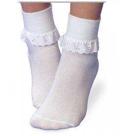 Jefferies Socks White Eyelet Lace Sock