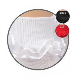 Jefferies Socks White Ribbon Lace Sock
