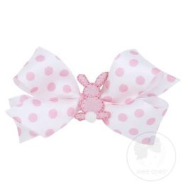 Wee Ones Small Pink Dot Bunny Bow