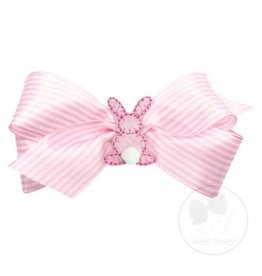 Wee Ones Small Stripe Bunny Bow