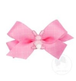 Wee Ones Small Pink Satin Bunny Bow