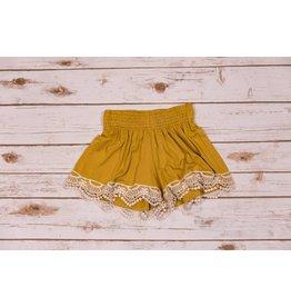 Tru Luv Vintage Rag Mustard Flared Shorts