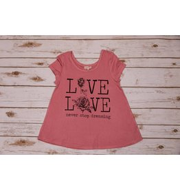 Paper Flower Mauve Live Love Shirt