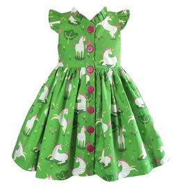 Miss Marmalade Unicornland Glen Park Green Vintage Dress
