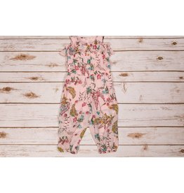 Baby Sara Pink Floral Ruffle Romper