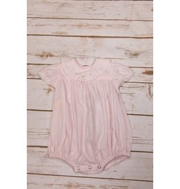 Sen Baby Pink Bubble Onesie with Flowers Detail on  Collar
