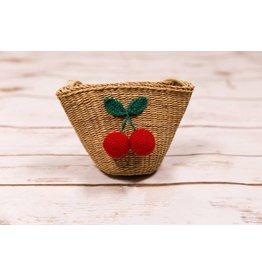 Mae Li Rose Cherry Straw Purse