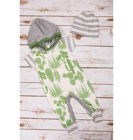 Tesa Babe Cactus Short Sleeve Hoodie Romper