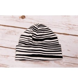 Tesa Babe Painted Black Lines Cap 0-3M