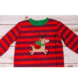 Reindeer Striped Shirt