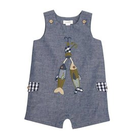Mud Pie Chambray Fishing Lure Shortall