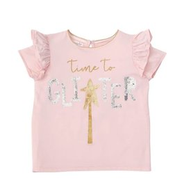 Mud Pie Bamboo Time To Glitter Tee