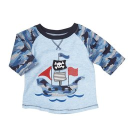 Mud Pie Pirate Camo Sleeve Tee