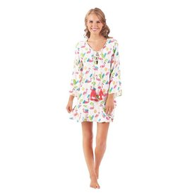 Mud Pie Floral Flamingo Mom Cover Up