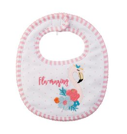 Mud Pie Fla-Mazing Flamingo Bib