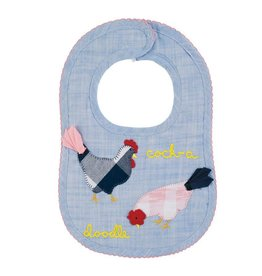 Mud Pie Farmhouse Rooster Bib