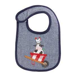 Mud Pie Farm Friends Cow Bib