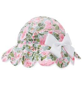 Mud Pie Floral Scallop Sun Hat