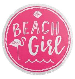 Mud Pie Beach Girl Flamingo Fringe Beach Blanket