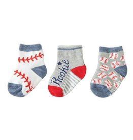Mud Pie All Boy Baseball Sock Set